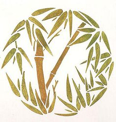 Bamboo Grove Stencil  See more Flower and Vine Stencils: http://www.cuttingedgestencils.com/stencils-flower-stencil.html  #flower #vine #stencils