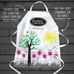 A great new grandparent gift for grandparents who have everything, this DIY apron is a unique gift which features the little handprints of life's greatest blessings, our children. This apron is guaranteed to be a favorite, one-of-a-kind gift.
