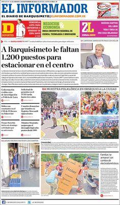 #Portadas #Nacionales #PrimeraPagina #Titulares #Noticias #DesayunoInformativo @elinformadorve