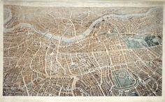 My friend Alice likes this. I do too.  A Balloon View of London from Hampstead.  Banks & Co.; Wilson, Effingham