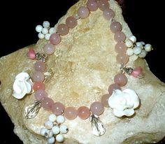 Edle Rosenquarz Perlenkette 47cm 8 von MeinSchmuck auf Etsy