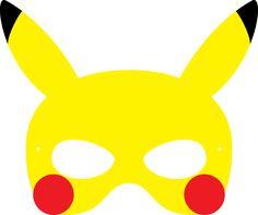 Pikachu mask mold for pokemon party - Pokemon Masks, Anime Pokemon, Pokemon Craft, Project Pokemon, Festa Pokemon Go, Pokemon Party, Pokemon Printables, Party Printables, Pokemon Birthday