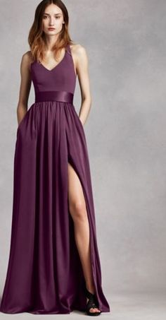 Vera Wang, Plum, bridesmaid dress for jewel toned wedding