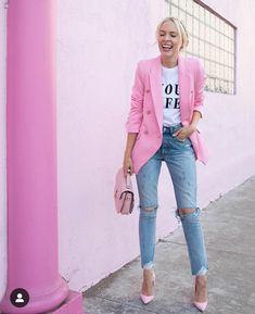 41 Combinations Of Stylish Pink Outfits For Women - Work Outfits Women Pink Outfits, Mode Outfits, Classy Outfits, Stylish Outfits, Bar Outfits, Vegas Outfits, Formal Outfits, Club Outfits, Dress Outfits
