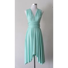 Summer day dress Convertible Dress in Mint Green Infinity Dress Multiway Dress Wrap dress Light Tiffany Green