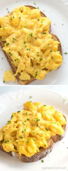 Soft and Creamy Scrambled Eggs - 6 Tips for the Best Scrambled Eggs ~ Soft, cre. - Soft and Creamy Scrambled Eggs – 6 Tips for the Best Scrambled Eggs ~ Soft, creamy and absolutel - Breakfast Dishes, Breakfast Time, Breakfast Recipes, Breakfast Crockpot, Paleo Breakfast, Creamy Scrambled Eggs, Creamy Eggs, Recipe For Scrambled Eggs, Perfect Eggs Scrambled