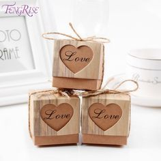 Cheap gifts for guests, Buy Quality gifts for wedding directly from China gifts for wedding guests Suppliers: FENGRISE Heart Candy Box Vintage Wedding Gifts For Guests Kraft Boxes With Rustic Burlap Twine Decoration Wedding Favors Wedding Favors And Gifts, Vintage Wedding Gifts, Wedding Gifts For Guests, Unique Wedding Gifts, Wedding Favor Boxes, Wedding Candy, Candy Gift Box, Paper Gift Box, Candy Gifts