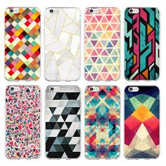 For Apple iPhone 6 Case Fashionable Geometric Graphic Pattern Mobile Cover for iPhone 6s plus Case Phone 5 5S Coque Funda *** To view further for this item, visit the image link.