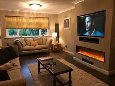 Terrific Screen Electric Fireplace living room Thoughts Adorable 45 Cool Electric Fireplace Designs Ideas For Living Room Fireplace Tv Wall, Fireplace Design, Fireplace Ideas, Modern Fireplace, Living Room Electric Fires, Living Room Tv, Living Room With Fireplace, Chimney Breast, Small Room Design