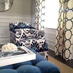 Quadrille Kazak chair by Stephanie Kraus Designs