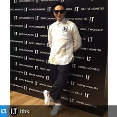 #Repost @ithk with @repostapp.・・・Look who's here! Famous artist Chilam styles up with the coolest GENTLE MONSTER sunglasses to support our GENTLE MONSTER SS15 Collection Launch Party today! @gentlemonsterofficial #gentlemonster #ithk #fashion #style #eyewear #kfashion #ss15 #sunglasses #popupstore #exclusive #it_hysan @it_hysan #launchparty #celebrity #guest #popstar @gentlemonsterhongkong @cheungjulian