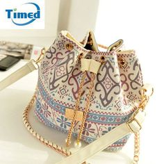Handbags Bohemia Canvas Drawstring Lady Bucket Bag 2017 New Chains Shoulder Handbags Women's Vintage Messenger Bags Bolsa Feminina Bolsos * AliExpress Affiliate's Pin. Find similar lovely pieces on AliExpress website by clicking the VISIT button Crossbody Shoulder Bag, Shoulder Handbags, Shoulder Bags, Tote Purse, Tote Handbags, Satchel Bag, Crossbody Bags, Bucket Handbags, Small Handbags