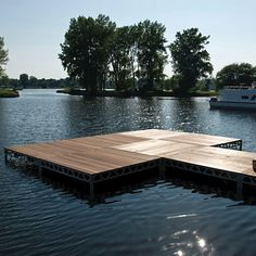 Dock 2 GO Stationary 4 x 8 Dock Kit -  I think you could you something like this for a portable deck for your RV.