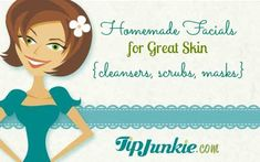 33 Homemade Facials for Great Skin {cleansers, scrubs, masks}. These include chocolate facials, blueberry facials, berry-yogurt mask, coffee mask, moisturizing orange mask, facial cleaners, toner, night creams, moisturizers, etc. All - natural recipes!