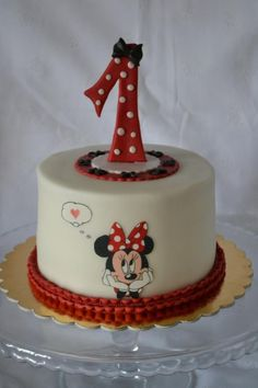 Minnie cake - Cake by drahunkas Mickey And Minnie Cake, Mickey Cakes, Minnie Mouse Cake, Bolo Do Mikey, Little Girl Cakes, Unique Birthday Cakes, Friends Cake, Barbie Cake, Character Cakes