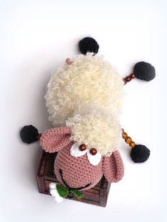 Crochet sheep doll, Sheep toy, Crocheted toy by Mycapella on Etsy, $46.40