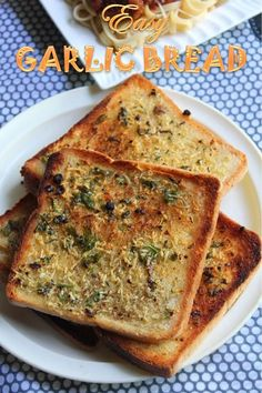 Soft Unsalted Butter - 10 tblspn Garlic - 8 to 10 fat cloves Coriander Leaves - 3 to 4 tblspn finely chopped Italian Seasoning - 1 tsp Salt to taste Pepper to taste Bread Slices - 8 to 10 Zuchinni Recipes, Garlic Recipes, Veg Recipes, Snack Recipes, Dinner Recipes, Easy Bread Recipes, Cooking Recipes, Ramzan Recipe, Best Pizza Dough