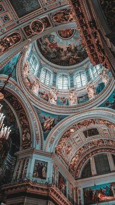 Architecture Classique, Baroque Architecture, Classic Architecture, Beautiful Architecture, Aesthetic Pastel Wallpaper, Aesthetic Wallpapers, I Wallpaper, Wallpaper Backgrounds, Iphone Backgrounds