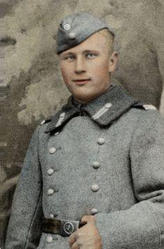 Finnish soldier 1940, photo hand coloured