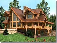 Dream Home Design, My Dream Home, House Design, Mountain Dream Homes, A Frame House Plans, Ranch Style Homes, Amazing Buildings, Log Cabin Homes, House Blueprints