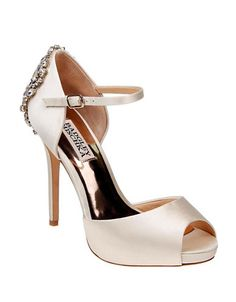 BADGLEY MISCHKA Badgley MischkaDawn Peep Toe Ankle Strap Pumps. #badgleymischka #shoes #pumps