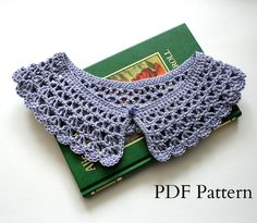 Detachable Crochet Collar Pattern, PDF download, DIY tutorial. $3.50, via Etsy.