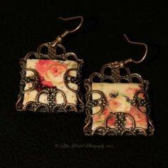 Victorian Rose Earrings by BridgetBlue on Etsy, $16.95