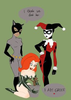 I think we lost her. by UrbanStar on deviantART Poison Ivy meets Groot @hollypants182 (Harley) & @bkborakim (Selina) you guys would totally lose me in this situation!
