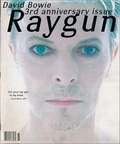 "cMag061 - Ray Gun Magazine cover ""David Bowie"" by David Carson / Nº 30 / October 1995"