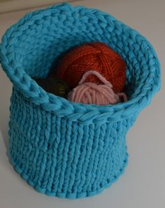 Free Knitted Basket Pattern | Zpagetti Knit Bowl Free Knitting Pattern