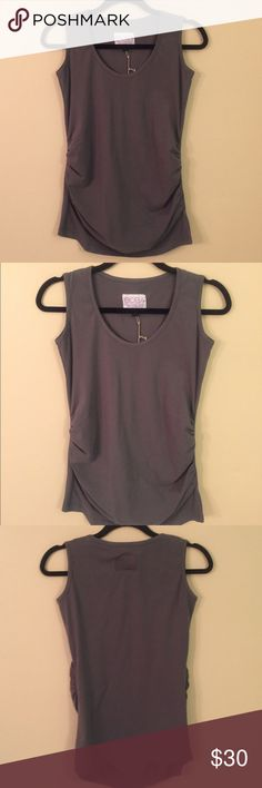 """BABY ON BOARD APPAREL Maternity Tank Top NWT!! Super soft, stretchy and comfortable! Will be your favorite tank even after baby is born!! Laid flat chest measures 16"""", length from shoulder to hem is 28"""". B.O.B.A.  Tops Tank Tops"""
