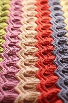 Le vintage fan ripple stitch blankett (Gratuit sur Ravelry) Réalisé par
