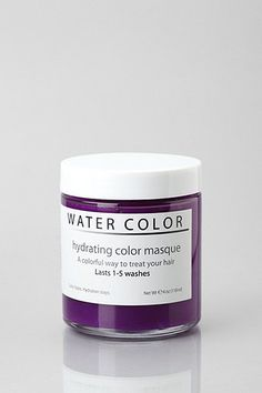 """Hydrating """"Water Color"""" hair mask- Temporary color that works like hair chalking but won't dry out your locks or rub off on clothes!"""