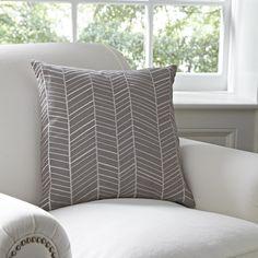 Birch Lane Cassie Pillow Cover, Pewter | Birch Lane