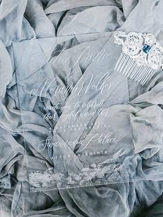 Calligraphy By Ink & Honey |  Winter Wedding Inspiration | Rachel May Photography | Amore Events By Cody