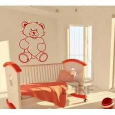 Teddy bear wall decal With a heart