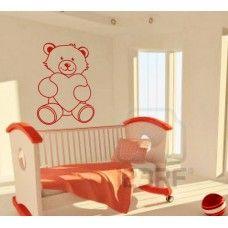 Teddy bear wall decal #9 With a heart