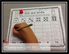 Literacy Activities - Roll & Write