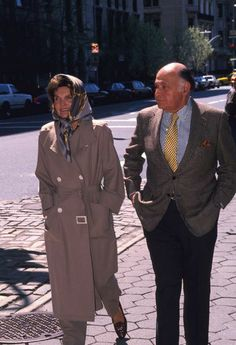 Jacqueline Kennedy Onassis and businessman Maurice Tempelsman walk through Central Park, April 4, 1994, in New York, just six weeks before her tragic death.