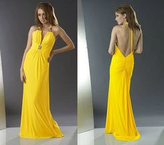 Bright and sunny bridal dress- yellow rules
