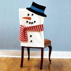 DIY:  Snowman Chair Covers......like!