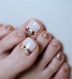 elegant and stylish bright french toe nails design; elegant toe nails in bright colors; bright color design nails for toes; pedicure Elegant And Stylish Bright French Toe Nails Design Pretty Toe Nails, Cute Toe Nails, Pretty Toes, Pedicure Nail Art, Toe Nail Art, Acrylic Nails, French Pedicure, Pedicure Ideas, Pedicure Party