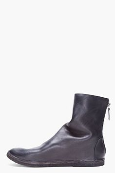 MARSELL Black Leather Strapara Boots