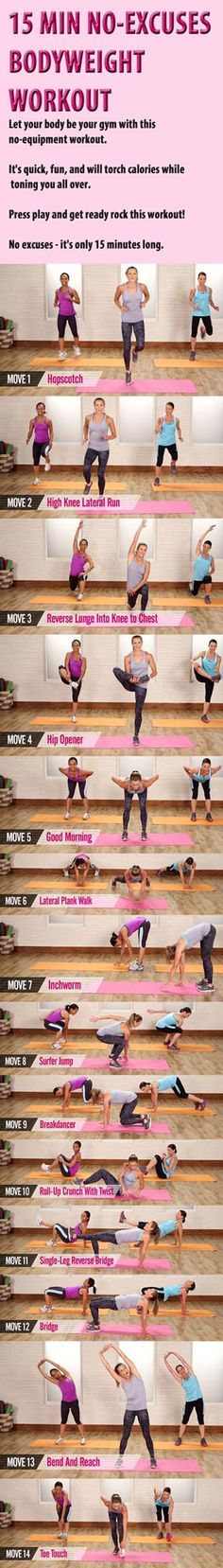 Try these bodyweight exercises for your perfect body. Get working out today!
