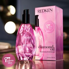 Check out Redkens new Glow Dry! An Oil treatment for Dry, Dull & Damaged hair, that includes a heat protectant that helps smooth and soften your style!