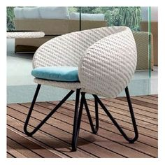 100 Essentials Circle Patio Dining Chair with Cushion Finish: Chocolate, Fabric: Sunproof Light Grey