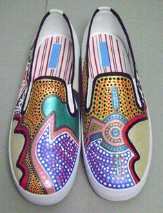 Painted Shoes named Night Owl. Work of art. I'd be afraid to wear them.