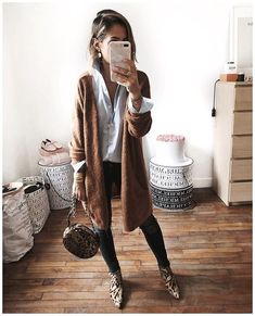 Cool 47 Elegant Fall Outfits Ideas For Women That Looks Cool Fall Outfits For Work, Cute Fall Outfits, Fall Fashion Outfits, Mode Outfits, Fall Winter Outfits, Look Fashion, Winter Fashion, Womens Fashion, Cold Spring Outfit