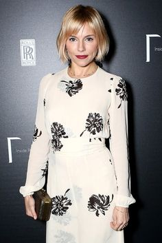[double layer sheer fabric] Sienna Miller