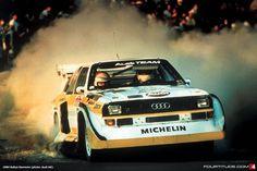 Walter Rohrl in the 1984 Audi Sport quattro at San Remo